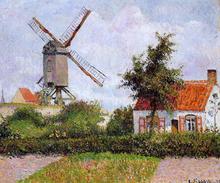 A Windmill at Knocke, Belgium - Camille Pissarro