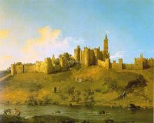 Alnwick Castle at Northumberland -  Canaletto