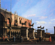 Capriccio with the Four Horses From the Cathedral of San Marco - Canaletto