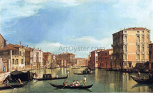 At the Grand Canal Between the Palazzo Bembo and the Palazzo Vendramin - Canaletto
