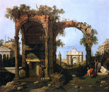 A Landscape with Ruins (also known as picket Duty in Virginia) - Canaletto