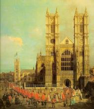 London - Westminster Abbey with a Procession of the Knights of the Bath -  Canaletto