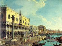 Riva degli Schiavoni - Looking East -  Canaletto