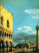 The Piazzetta - Looking South -  Canaletto