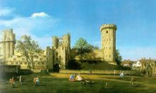 Warwick Castle - The East Front -  Canaletto