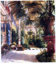 Das Innere des Palmenhauses (also known as The Interior of the Palm House) - Carl Blechen