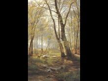 A Woodland Scene with Deer - Carl Fredrik Aagard