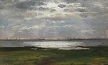 Coastal Landscape at Sunset - Carl Fredrik Aagard