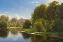 Landscape with a Stream - Carl Fredrik Aagard