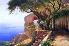 A Pergola in Amalfi - Carl Fredrik Aagard