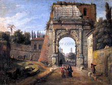 Rome: View of the Arch of Titus - Caspar Andriaans Van Wittel
