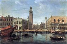 The Piazzetta from the Bacino di San Marco - Caspar Andriaans Van Wittel