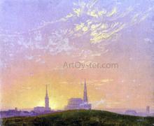 Abend (also known as Sonnenuntergang Hinter der Dresdener Hofkirche) - Caspar David Friedrich