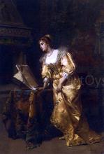 An Elegant Lady Reading Music - Cesare Augusto Detti