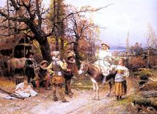 A Halt Along the Way - Cesare-Auguste Detti