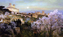 Il Pincio with a View of Villa Medici - Charles Caryl Coleman