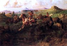 Buffalo Hunt - Charles Christian Nahl