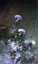 Thistles with Butterfly - Charles Ethan Porter