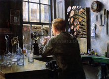 A Glass Engraver - Charles Frederic Ulrich