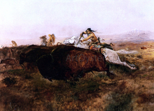 Buffalo Hunt # 10 - Charles Marion Russell