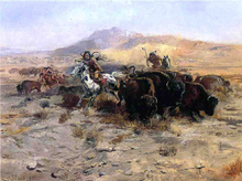 Buffalo Hunt - Charles Marion Russell