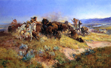Buffalo Hunt No.40 - Charles Marion Russell