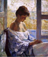 By the Window - Charles Webster Hawthorne