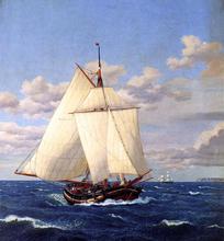 A Danish Yacht Passing Stevns - Christoffer Wilhelm Eckersberg