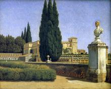 In the Gardens of the Villa Albani - Christoffer Wilhelm Eckersberg