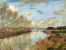 Argenteuil Seen from the Small Arm of the Seine - Claude Oscar Monet