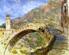Bridge at Dolceacqua - Claude Oscar Monet