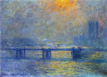 Charing Cross Bridge, The Thames - Claude Oscar Monet
