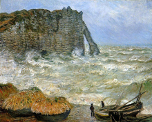Etretat, Rough Sea
