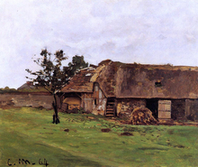 Farm near Honfleur - Claude Oscar Monet