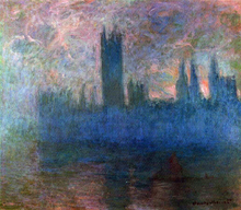 Houses of Parliament, London, Symphony in Rose - Claude Oscar Monet
