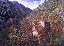 Olive Trees and Palm Trees in the Valley - Claude Oscar Monet