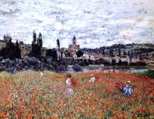 Poppies near Vetheuil - Claude Oscar Monet