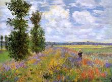 A Poppy Field, Argenteuil - Claude Oscar Monet