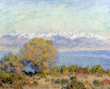 The Alps Seen from Cap d'Antibes - Claude Oscar Monet