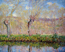 The Banks of the River Epte in Springtime - Claude Oscar Monet