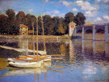 A Bridge at Argenteuil - Claude Oscar Monet