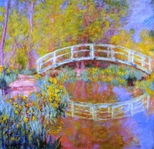 A Japanese Bridge at Giverny - Claude Oscar Monet