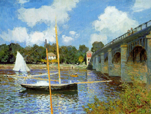 A Road Bridge at Argenteuil - Claude Oscar Monet