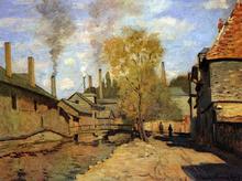 The Robec Stream, Rouen (also known as Factories at Deville, near Rouen) - Claude Oscar Monet
