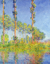 Three Poplar Trees, Autumn Effect - Claude Oscar Monet