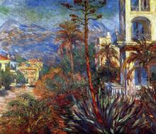 A Villa at Bordighera - Claude Oscar Monet