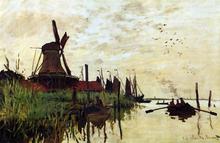 A Windmill at Zaandam - Claude Oscar Monet