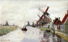 Windmills in Holland - Claude Oscar Monet