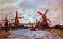 Windmills near Zaandam - Claude Oscar Monet