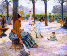 A Square at Luxembourg Park - Claude-Emil Schuffenecker